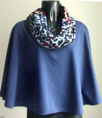 New-handmade-Womans-GIFT-PRESENT-CAPE-SCARF-SET-Fits-M-L-XL-1X
