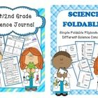First Grade/Second Grade Science Journal & Foldable Bundle- 62 Pages Total for the ENTIRE YEAR!  First/Second Grade Science Journal- 38 pages of Comprehensive Science Journal Entries covering various 1st Grade Science topics. Entries are informational...