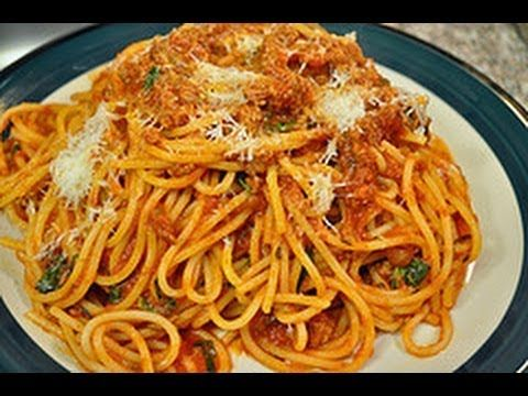 Simple spaghetti with meat sauce recipe | MY FAVS ON YOUTUBE | Pinter ...