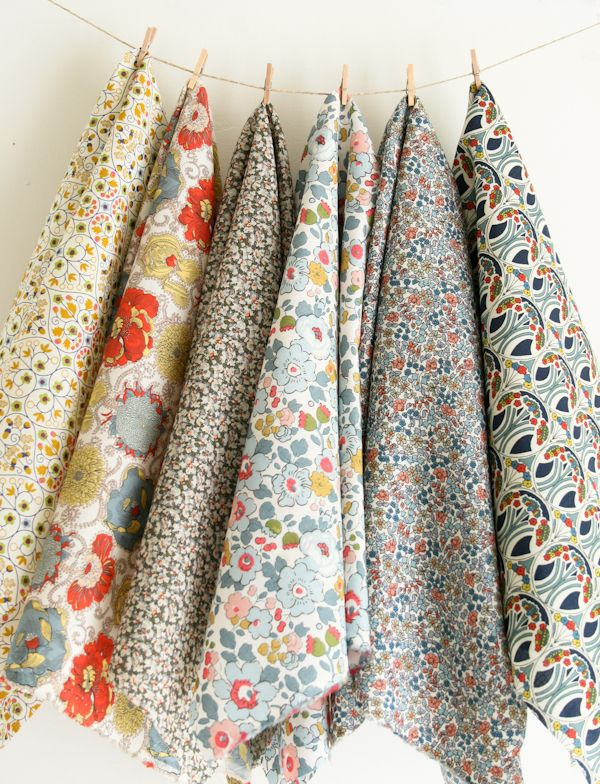 I want to wrap myself in all these gorgeous Liberty of London Fabrics.     Knitting Crochet Sewing Crafts Patterns and Ideas! - the purl bee