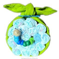 diaper cake 'apple green': cute idea!