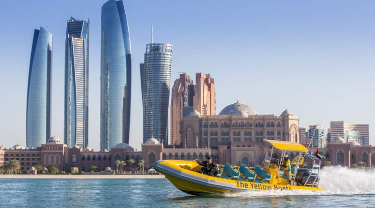 Boat sightseeing at Emirates Palace is one of the amazing things to do in UAE.