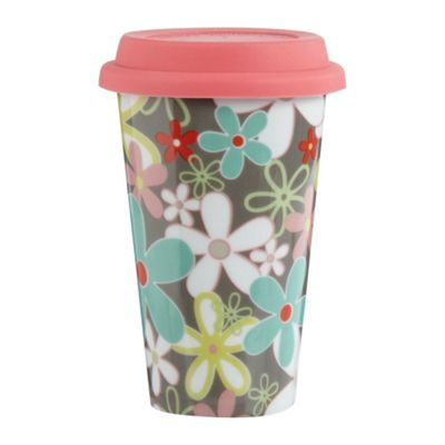 Creative Tops Ceramic pink floral travel mug | Debenhams