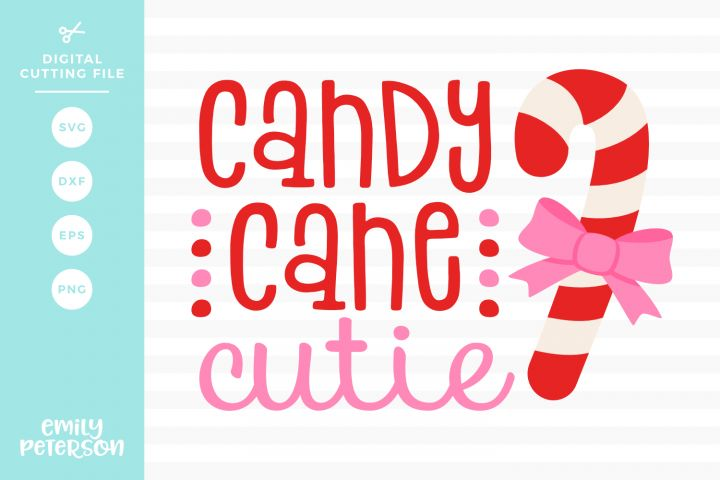 Download Candy Cane Cutie SVG DXF EPS PNG (With images)   Candy ...