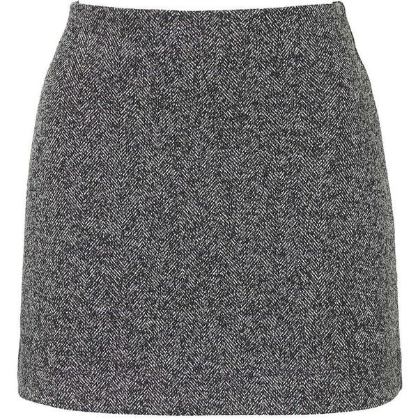 TOPSHOP PETITE Herringbone Jersey A-line Skirt ($50) ❤ liked on Polyvore featuring skirts, mini skirts, grey, petite, jersey knit skirt, herringbone skirt, a line skirt, topshop skirts and topshop