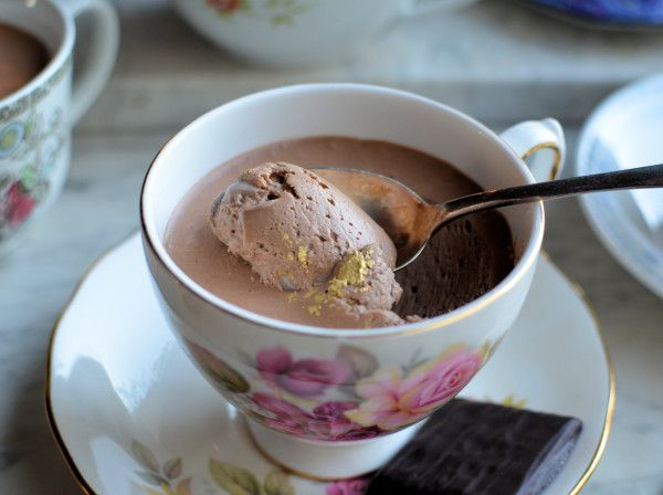 Lavender and Lovage | Festive Fun and Frivolity! Tea Cup After Eight Chocolate Mint Mousse | http://www.lavenderandlovage.com