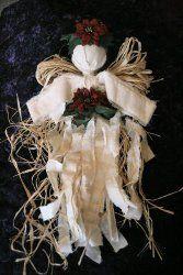 Angel CraftsCrafts Ideas, Christmas Crafts, Angel Crafts, Hanging Angels, Angels Crafts, Angels Tutorials, Muslin Angels, Christmas Angels, Homemade Christmas
