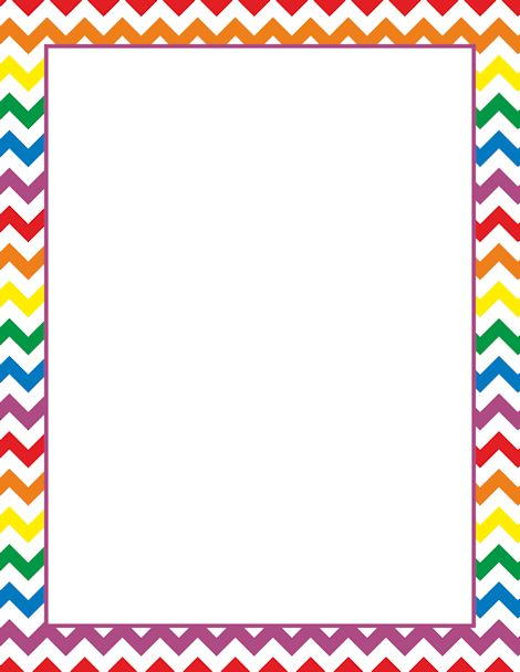 Printable rainbow chevron border. Free GIF, JPG, PDF, and PNG downloads at http://pageborders.org/download/rainbow-chevron-border/. EPS and AI versions are also available.