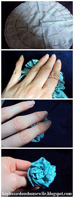 Easy, Hand-sewn Fabric Flower Tutorial