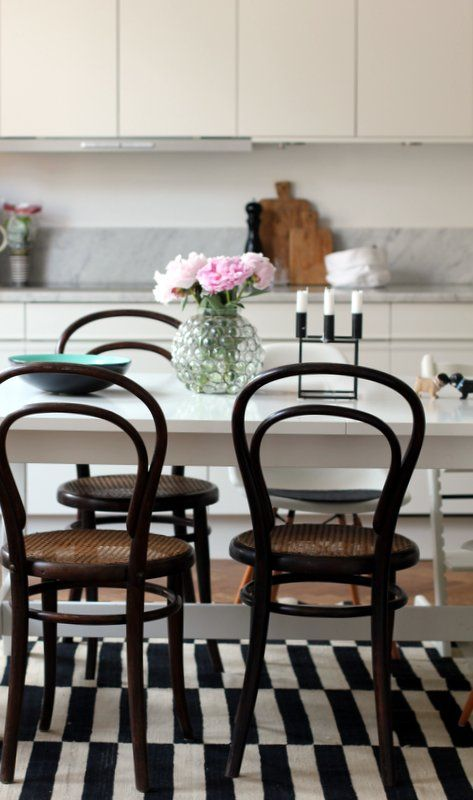 black thonet white table and white kitchen. But skip that carpet. Iu0027 : bentwood kitchen stools - islam-shia.org