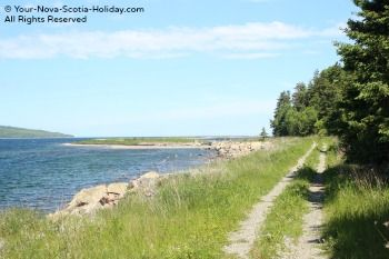 The Ceilidh Coastal trail is the first part of the 92-kilometer (58 miles) Celtic Shores Coastal trail on the west coast of Cape Breton Island.  You will get to enjoy beautiful views of St. George's Bay and the Strait of Canso.