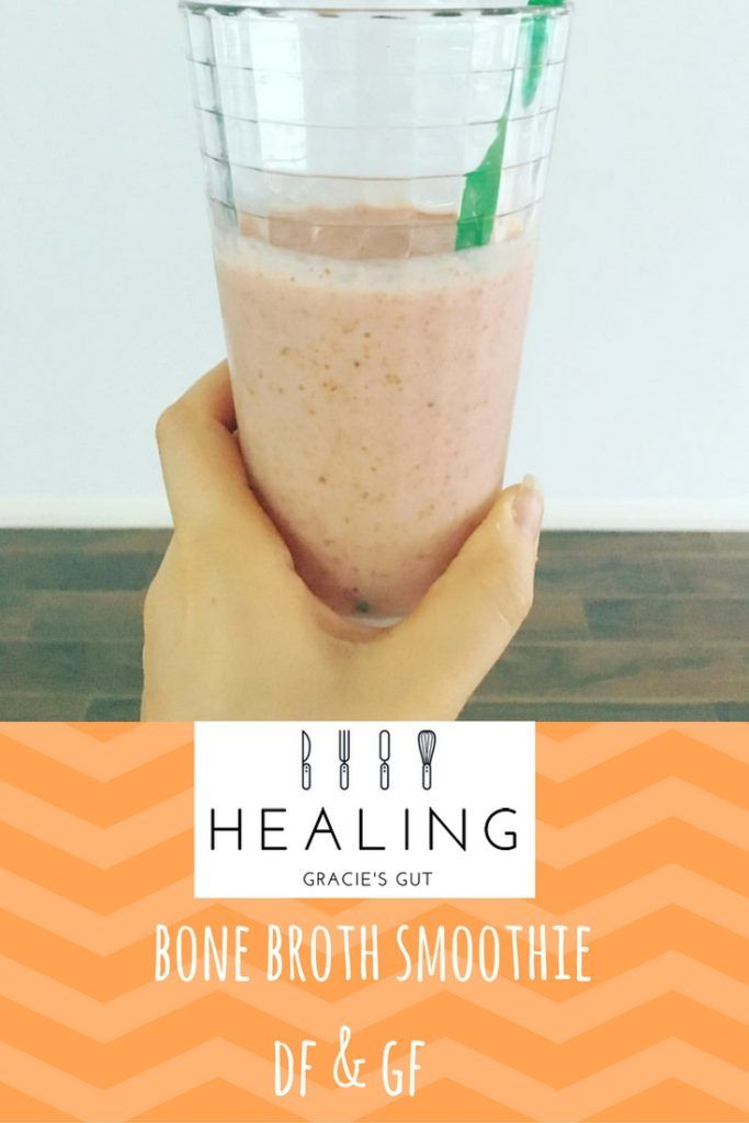 Bone Broth Smoothie, a sneaky way to get some broth goodness into your kids. Dairy and Gluten Free.