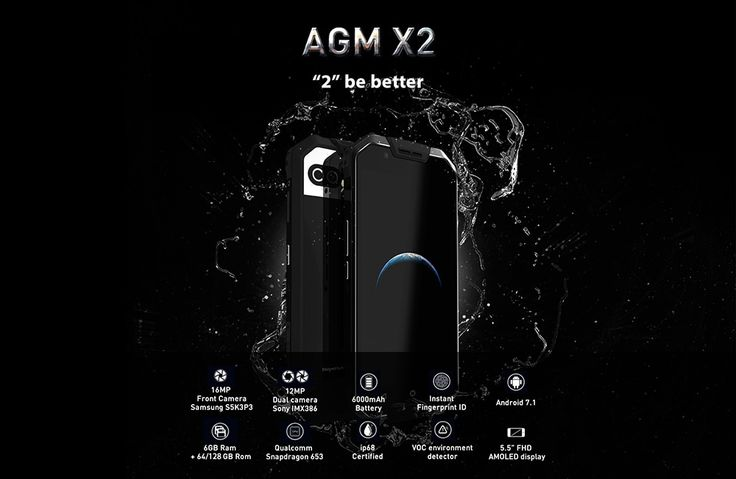 gbest SMARTPHONE, ACCESORIOS, PRODUCTOS Y MAS...: SMARTPHONE AGM X2 4G Phablet 64GB ROM $ 519.99