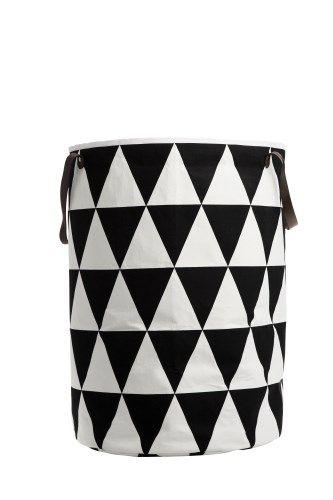 Triangle Wäschekorb schwarz