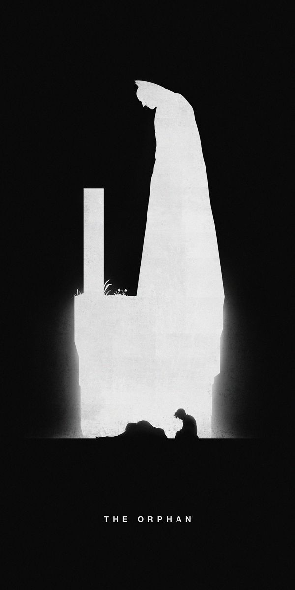 Illustrated Silhouettes of Superheroes Highlight Their Past & Present