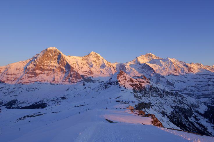 sunset Eiger, Mönch and Jungfrau