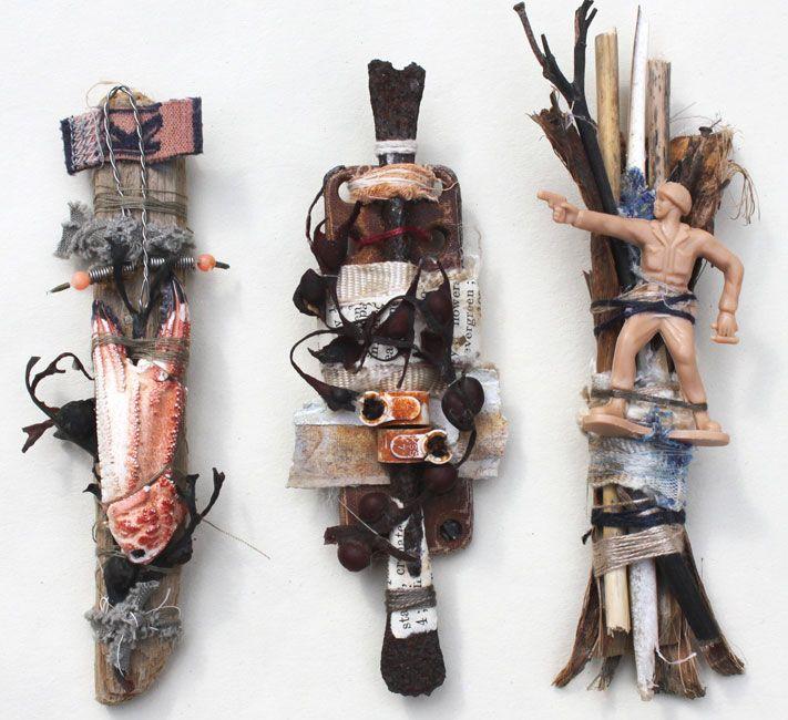 Gwen hedley - ocean detritus bundles (let's play with stuff we find)