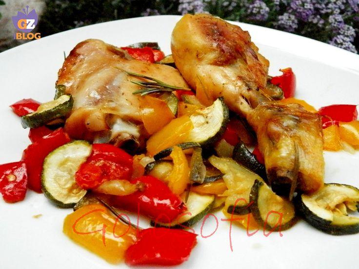 Pollo al forno con verdure-ricetta light-golosofia