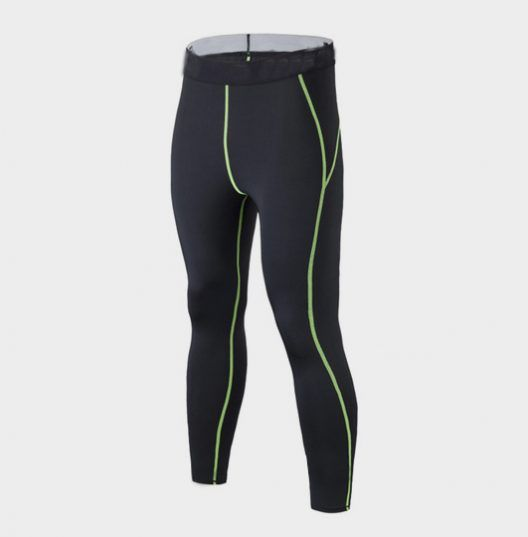 Black Slim Fit Marathon Pants with Neon Green Piping is now at Marathon Clothes.