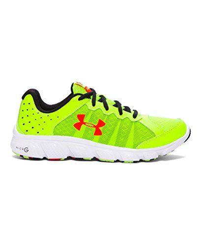 Under Armour Big Boys' Grade School UA Micro G Assert 6 Running Shoes 5 High-Vis Yellow