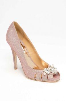 Badgley Mischka Monique Rose Gold Wedding Shoes $55
