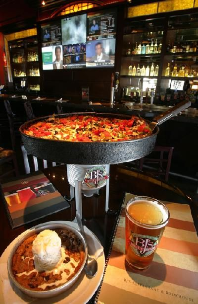 Sinfully delicious deep-dish pizza and pizookie from BJ's Restaurant & Brewhouse. Waco,TX
