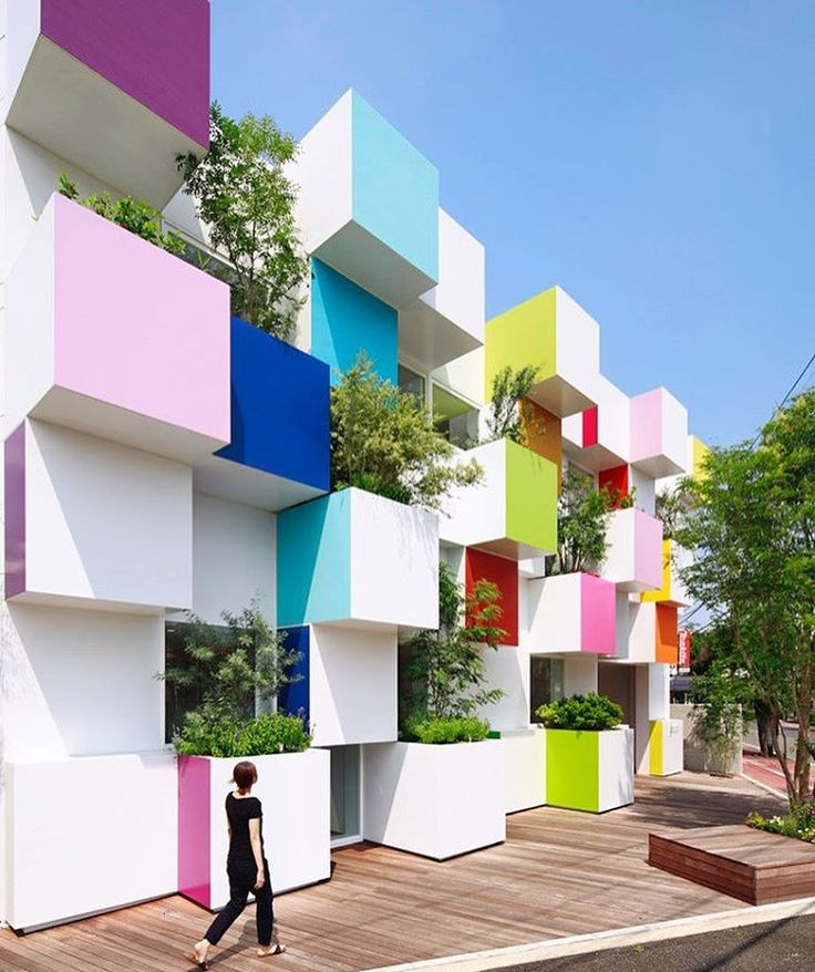 Modern Architecture Color 67 best bold design - playing with color, shape & form images on