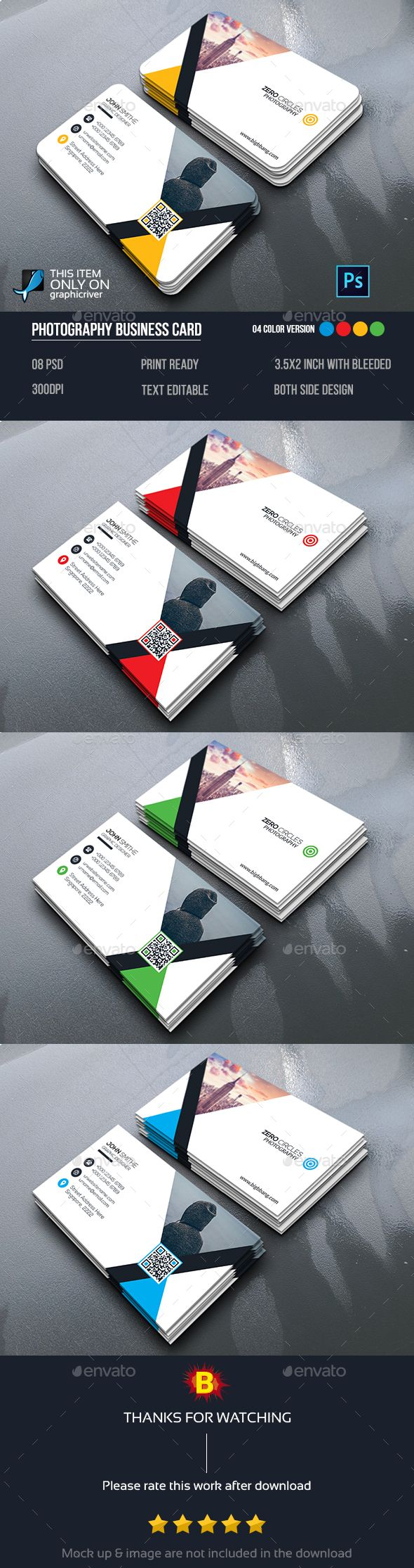 Mega Corporate Business Card Template PSD #design Download…