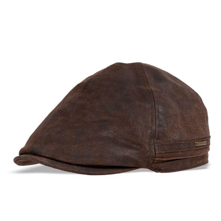 Casquette Stetson en cuir marron L - Une casquette chaude et confortable en cuir et doublure polaire - 99 €