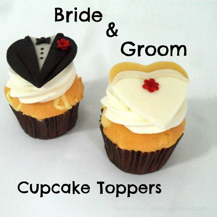 bride and groom cupcakes | Bride and Groom Cupcake Toppers