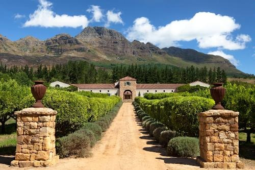 The Waterford Estate in Stellenbosch near Cape Town
