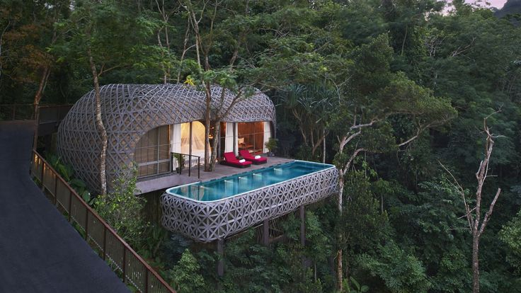 The Bird's Nest Pool Villa, at Keemala Resort - A wonderland of uniquely designed villas, each with a private pool, set in the rainforest of Kamala on Phuket Island, Thailand.