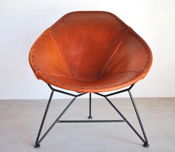 Garza Furniture - Marfa, Texas - Oval Saddle Leather Chair ($500.00) - Svpply