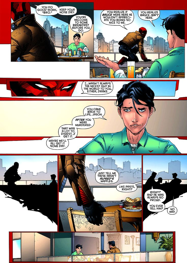 Jason Todd and Tim Drake. I love Jason for having to be that strong and I love Tim for welcoming him in each time.