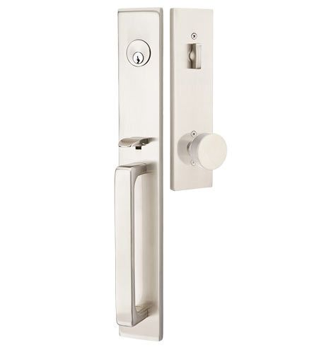 Lugano Round Knob Exterior Mortise Lock Set @ www.rejuvenation.com