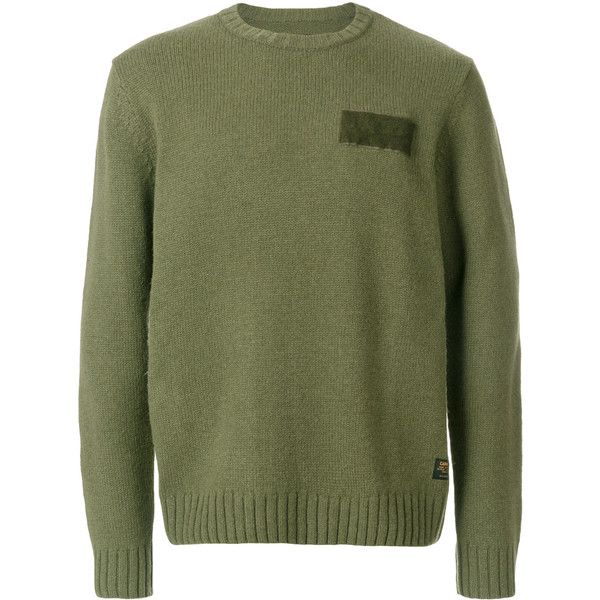 Carhartt patch pullover (4 395 UAH) via Polyvore featuring men's fashion, men's clothing, green и carhartt