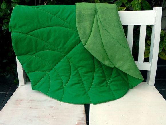 Cobertor para bêbes - Folha de hibisco