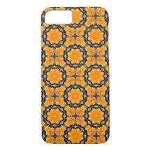 Orange Flower Pattern iPhone 7 Case
