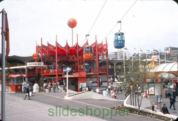 Slide Photo  Expo 1962 Seattle World's Fair View of Union 76 Skyride Pavilion