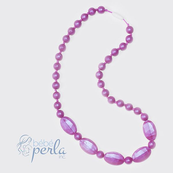 Silicone teething necklace - Jessica www.bebeperla.com