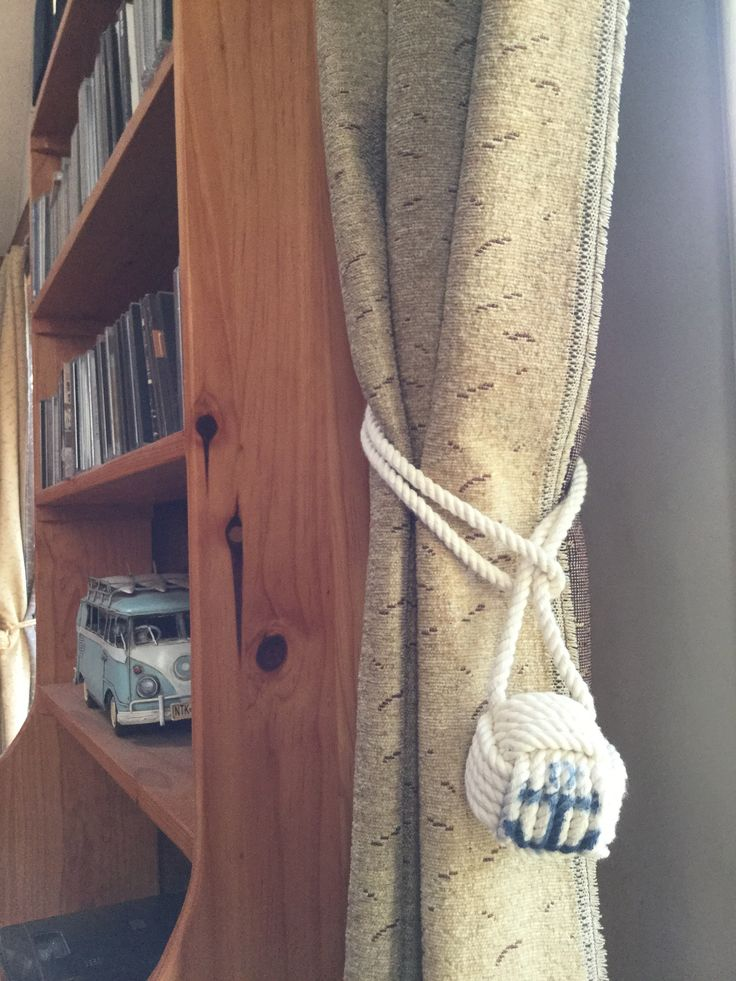 Nautical Rope Curtain Tiebacks with Anchors