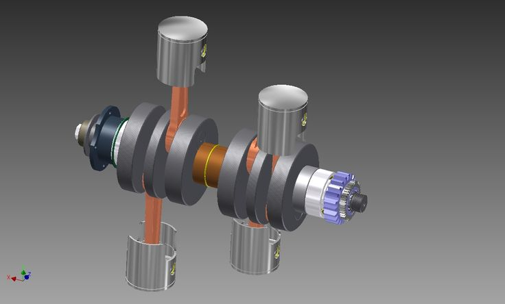COMPLETE CRANKSHAFT