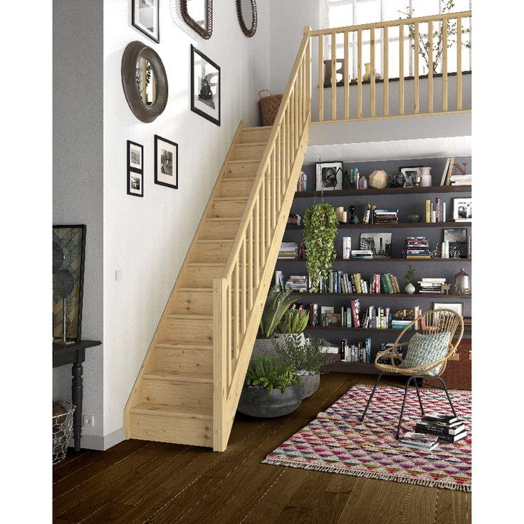 Escalier droit Bois Pack standard - Escaliers
