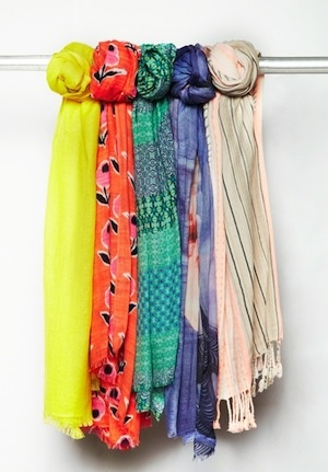 the top 5 colorful scarves to liven up your outfit from our Fashion Director, Laurie Trott