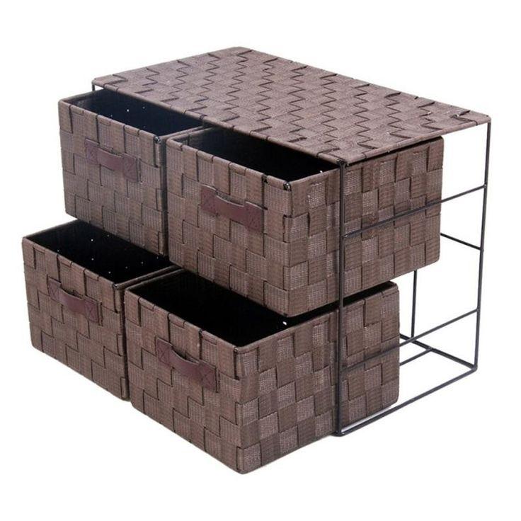 Mueble 4 cajones chocolate - Ofertas en decoracion de habitaciones