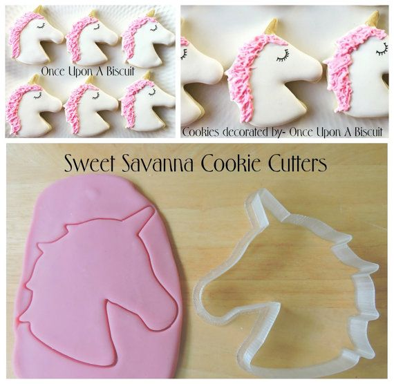 Unicorn Head Cookie Cutter by SweetSavannaCookies on Etsy