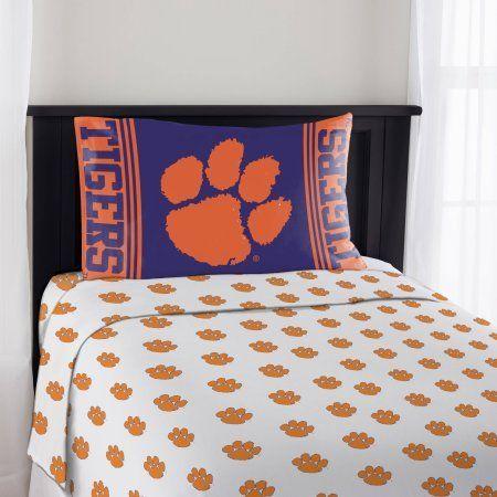 Ncaa Clemson Tigers Mascot Sheet Set, Multicolor