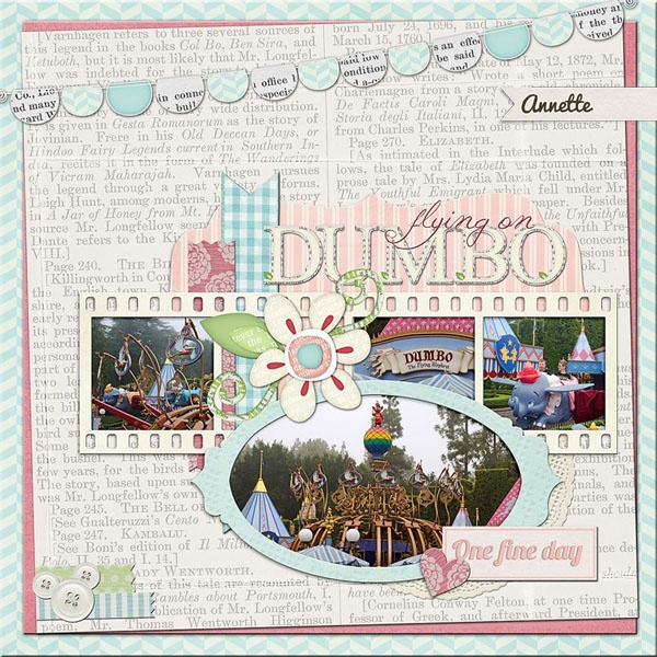 An awesome digi scrapbooking layout from Annette using My Little Spring