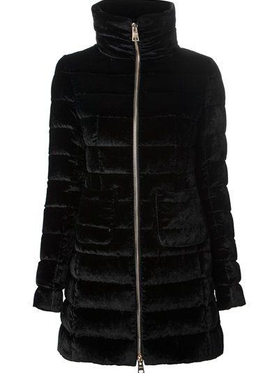 HERNO Padded Velvet Coat