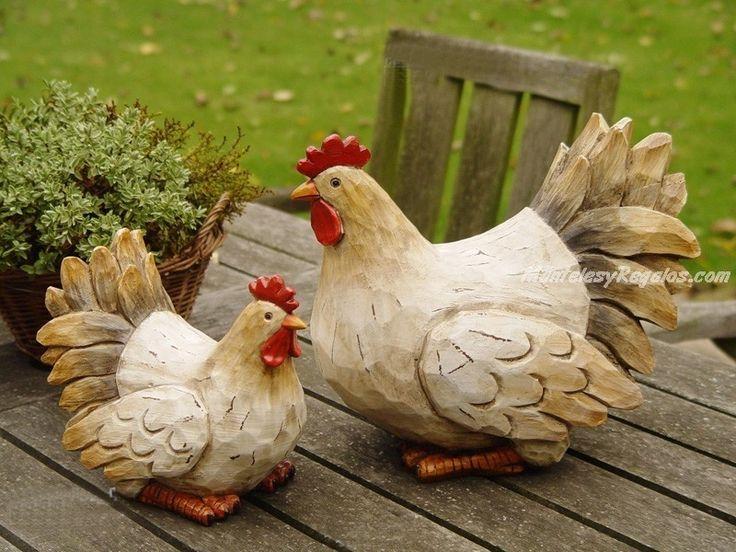 imagenes de gallinas pintadas en ceramica - Buscar con Google